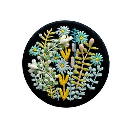 ブローチ / maru GARDEN 50mm / ブラック [ayako anemone]