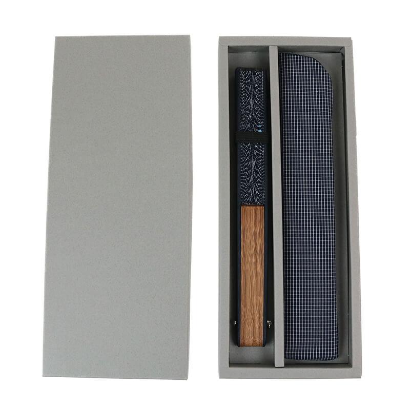 扇子 / ワンポイント刺繍扇子セット / クルマ