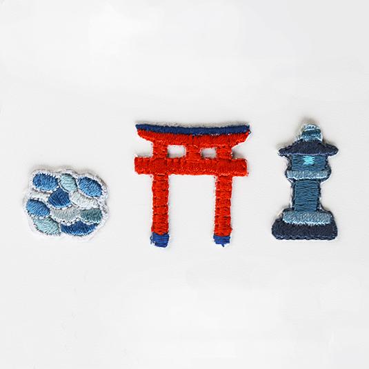 ワッペン3pieces / JINJA 神社 [GO!SHUIN]