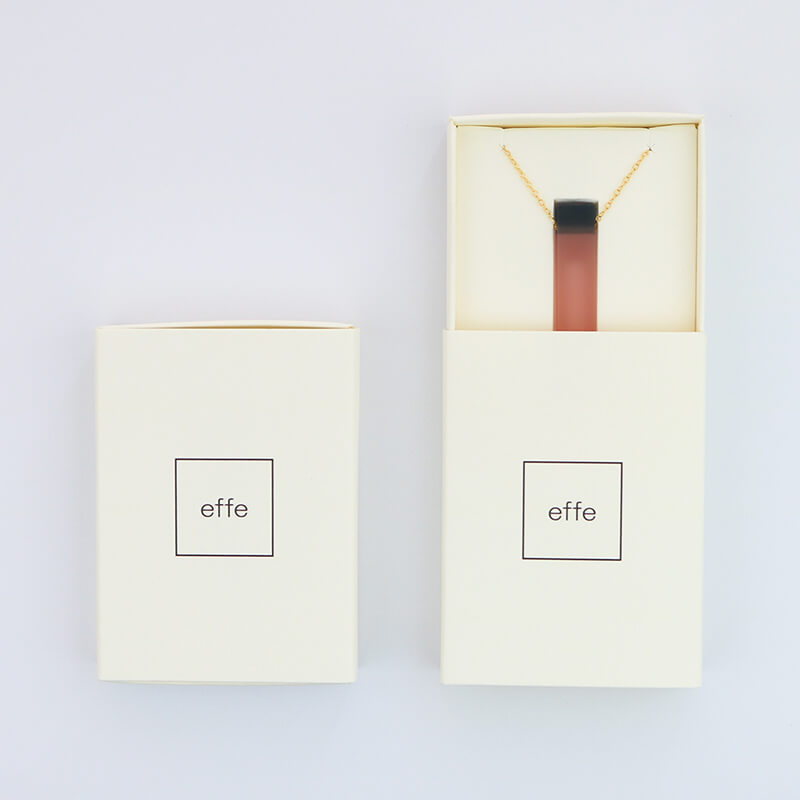 <別注カラー> ネックレス / candy / ピンク×ネイビー [effe]