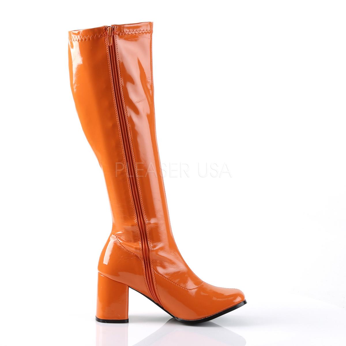 FUNTASMA(Pleaser) GOGO-300 オレンジ ニーハイブーツ GOGOブーツ コスプレ用ブーツ イベント 衣装 仮装 ハロウィン◆取り寄せ