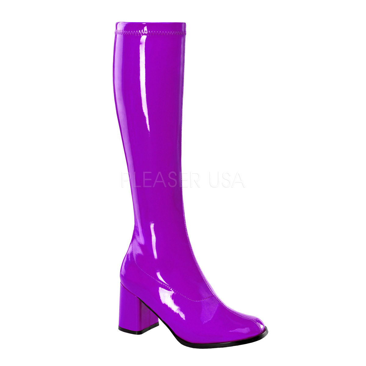 FUNTASMA(Pleaser) GOGO-300 パープル/紫 ニーハイブーツ GOGOブーツ コスプレ用ブーツ イベント 衣装 仮装 ハロウィン◆取り寄せ