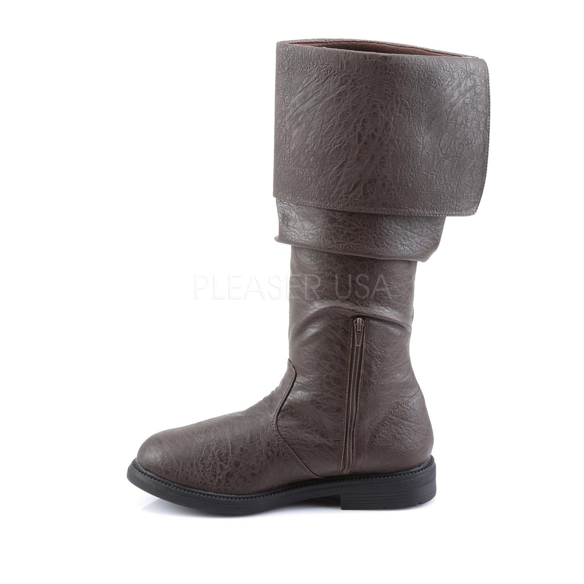FUNTASMA ROBINHOOD-100 #Men's メンズブーツ  折り返しブーツ ブラウン 茶 Pleaser◆取り寄せ