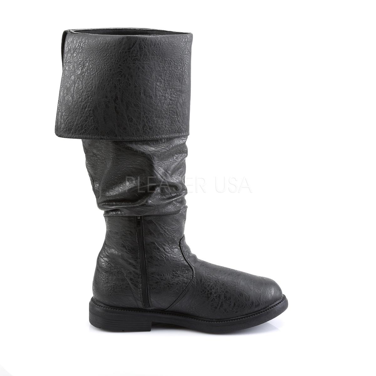 FUNTASMA ROBINHOOD-100 #Men's メンズブーツ 折り返しブーツ 黒 ブラック Pleaser◆取り寄せ
