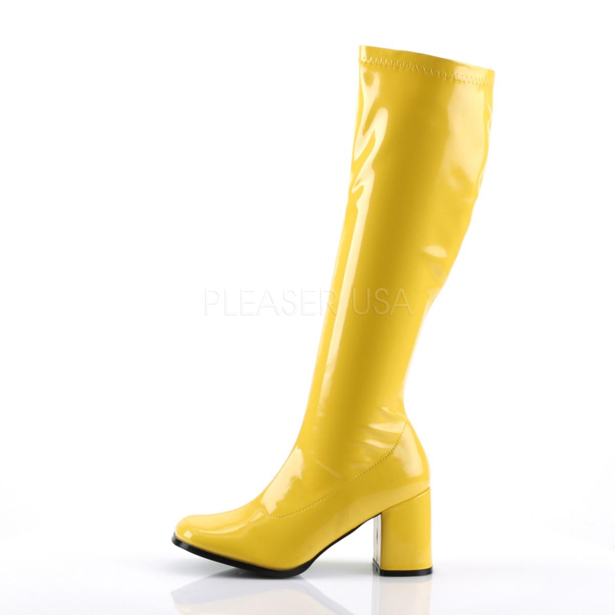 FUNTASMA(Pleaser) GOGO-300 イエロー 黄色 ニーハイブーツ GOGOブーツ コスプレ用ブーツ イベント 衣装 仮装 ハロウィン◆取り寄せ