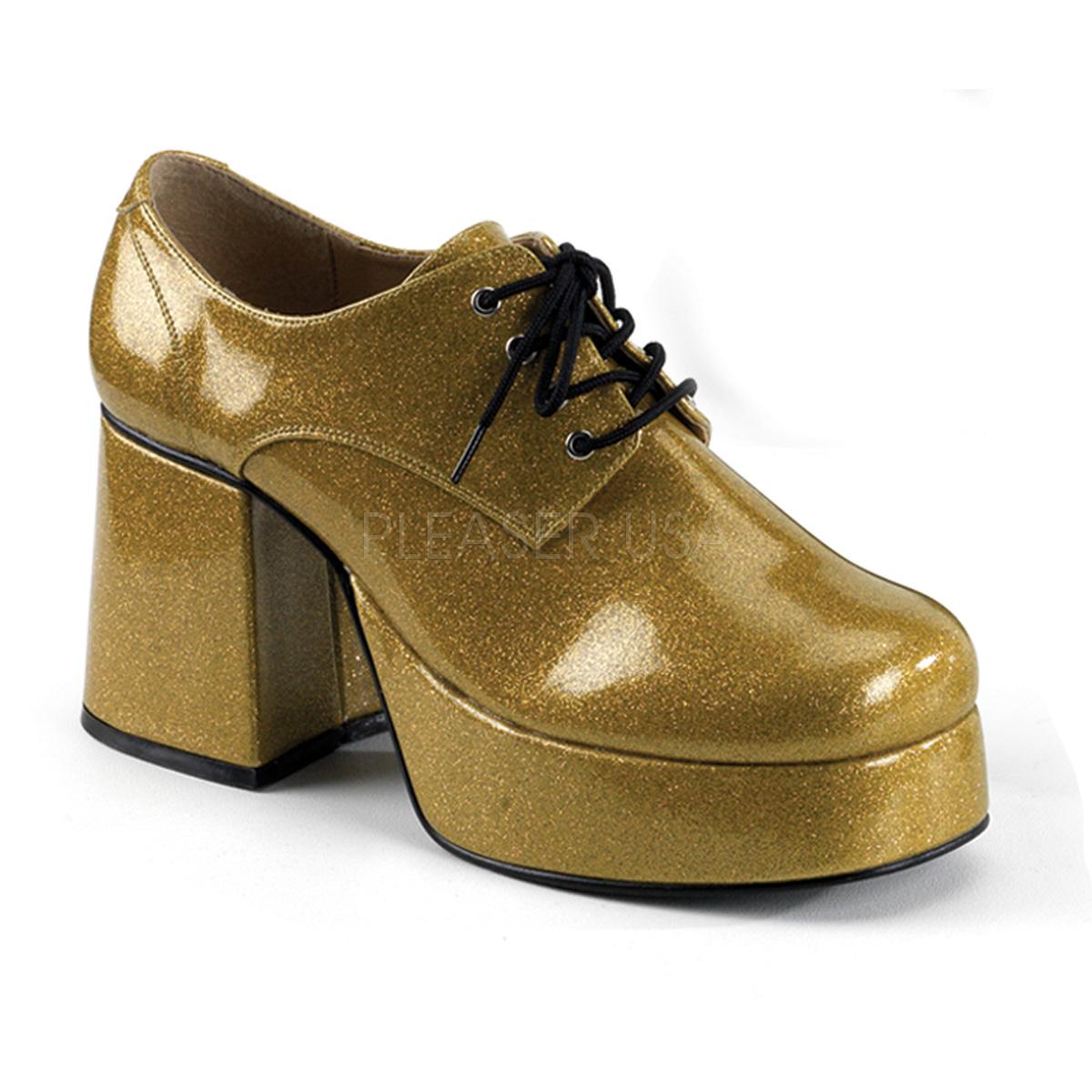 Funtasma JAZZ-02G 3 1/2inch #Men's Gold Glitter Platform Disco Shoes◆取り寄せ