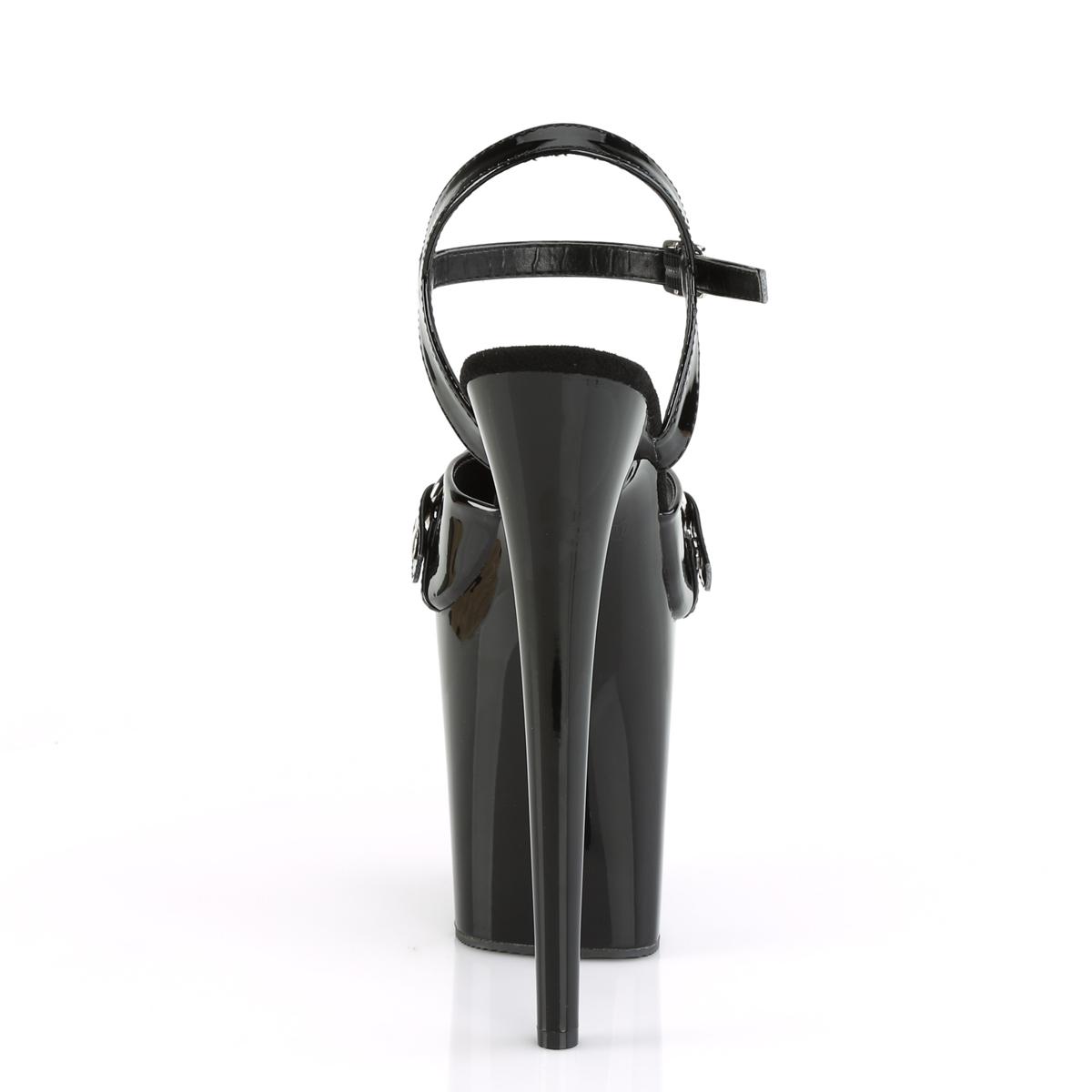 Pleaser(プリーザー) FLAMINGO-809GB フラミンゴ ボールギャグ飾り 厚底サンダル エナメル黒◆取り寄せ