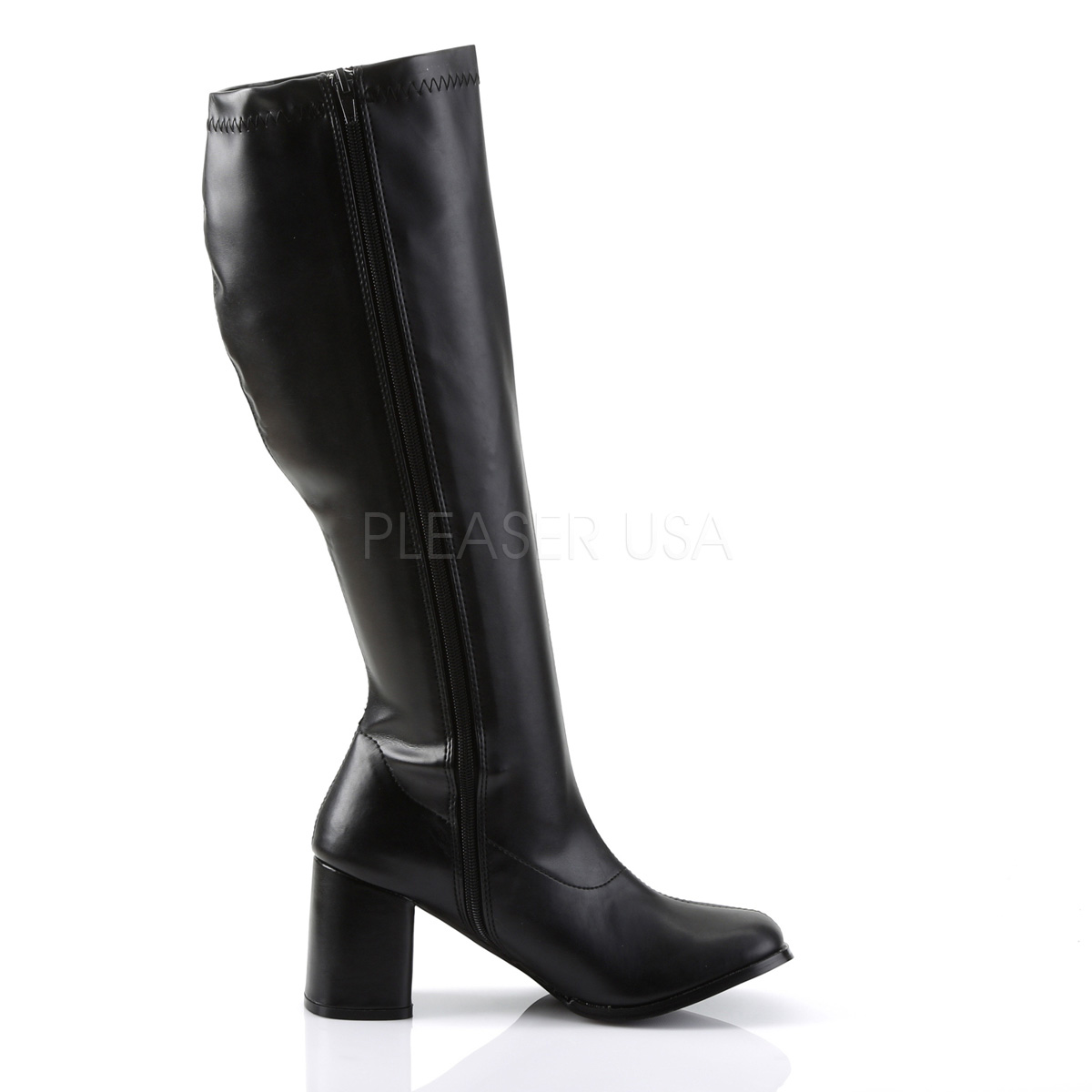 Funtasma GOGO-300WC 3inch Block Heel Wide Width, Plus Size Boot, Side Zip◆取り寄せ