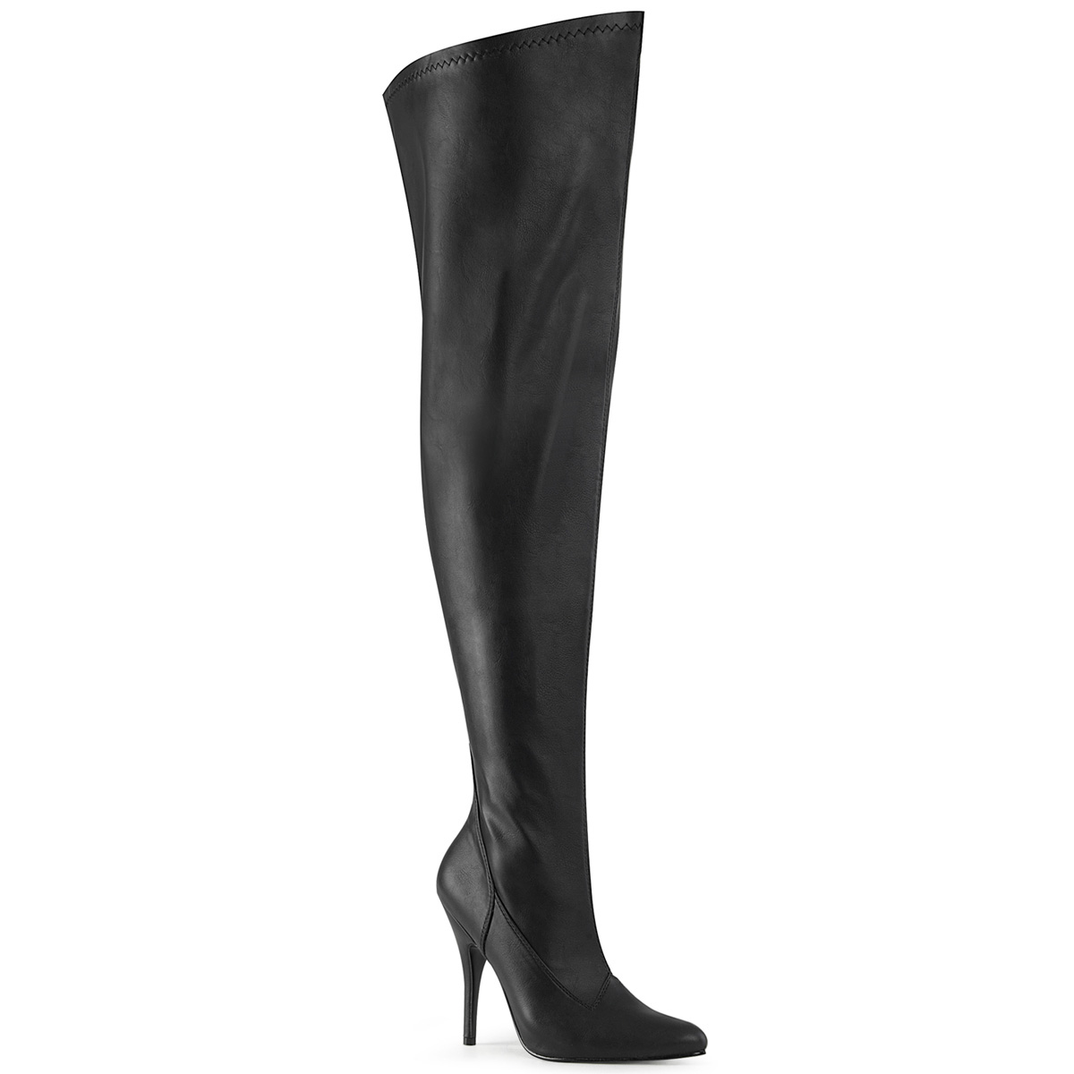 Pleaser Pink Label SEDUCE-3000WC ワイドカーフサイハイブーツ 5inch Heel Stretch Wide Calf Thigh Boot, Side Zip◆取り寄せ