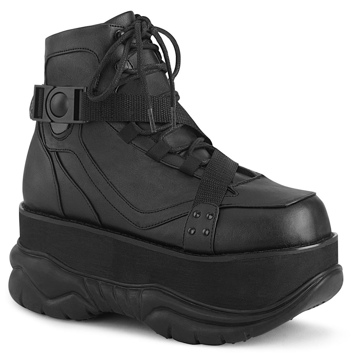 Demonia(デモニア) NEPTUNE-181 厚底スニーカー つや消し黒 モードパンク サイバーパンク #Men's/Unisex◆取り寄せ