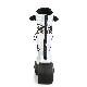Demonia(デモニア) SHAKER-70 ウェッジソール厚底ミッドカーフブーツ シルバーホログラム/黒フィッシュネット◆取り寄せ