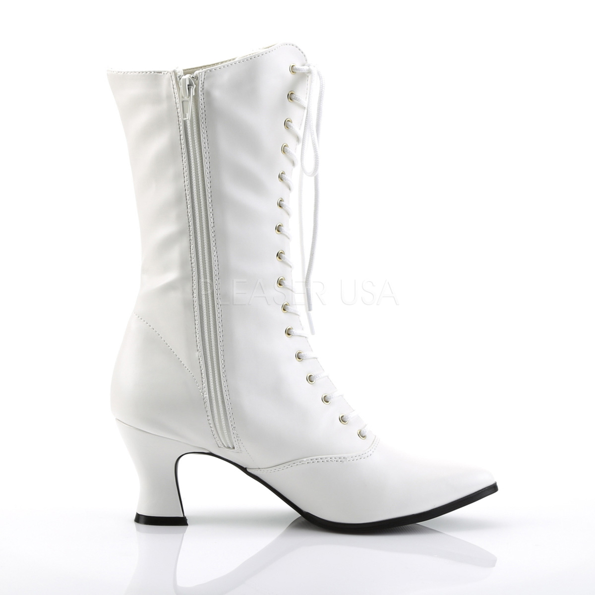 Funtasma VICTORIAN-120 ショートブーツ 2 3/4inch Heel Front Lace Up Mid Calf Boot w/Inner Side Zip◆取り寄せ