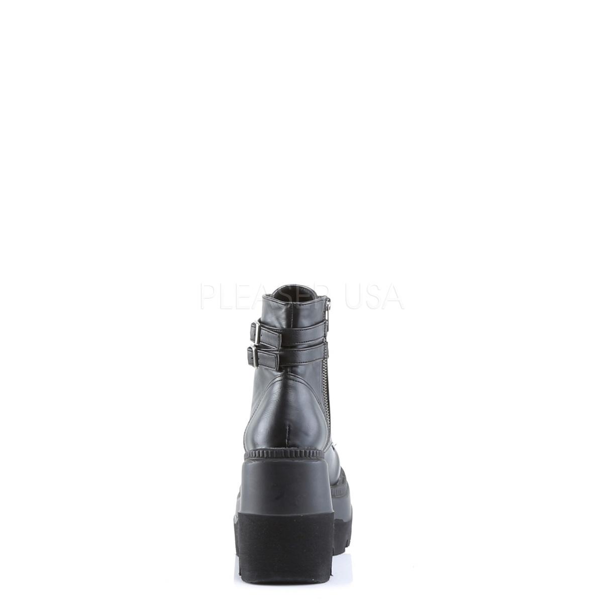 厚底スニーカー 厚底ショートブーツ DEMONIA by Pleaser デモニア プリーザー レディース ウェッジソール 厚底靴 大きいサイズ SHAKER-52 SHA52/BVL