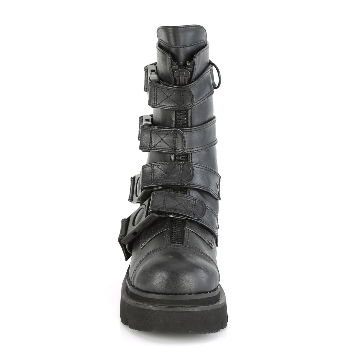 Demonia(デモニア) RENEGADE-55 クイックリリースバックルストラップブーツ ミドルブーツ つや消し黒◆取り寄せ