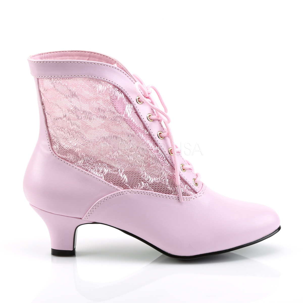 Funtasma DAME-05 2inch Heel, Lace Victorian Ankle Boot, Pioneer◆取り寄せ