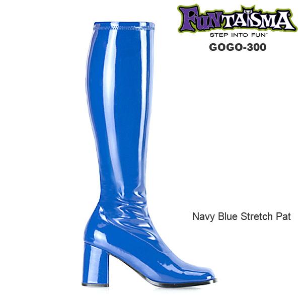 FUNTASMA(Pleaser) GOGO-300 ブルー 青 ニーハイブーツ GOGOブーツ コスプレ用ブーツ イベント 衣装 キャンギャルブーツ ロングブーツ