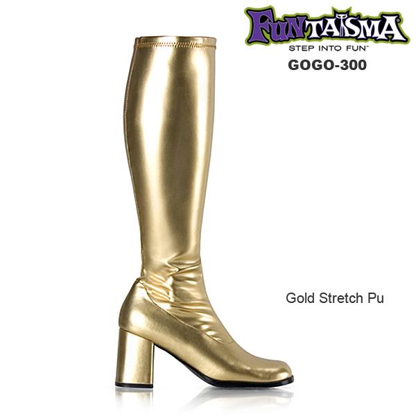 FUNTASMA(Pleaser) GOGO-300 ゴールド/金色 ニーハイブーツ GOGOブーツ コスプレ用ブーツ イベント 衣装 キャンギャル