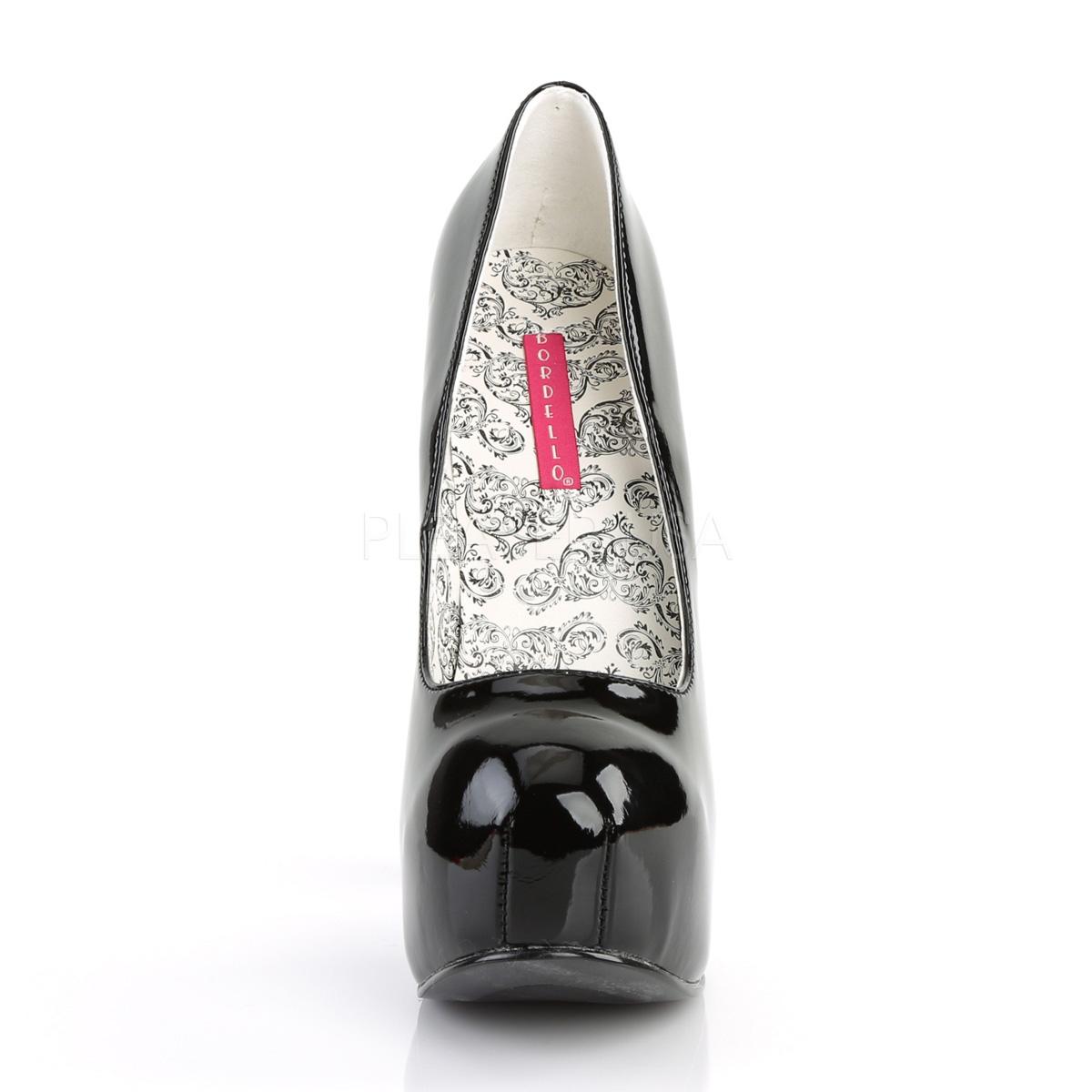 BORDELLO 厚底パンプス TEEZE-06 ブラック(エナメル)黒 PLEASER◆取り寄せ