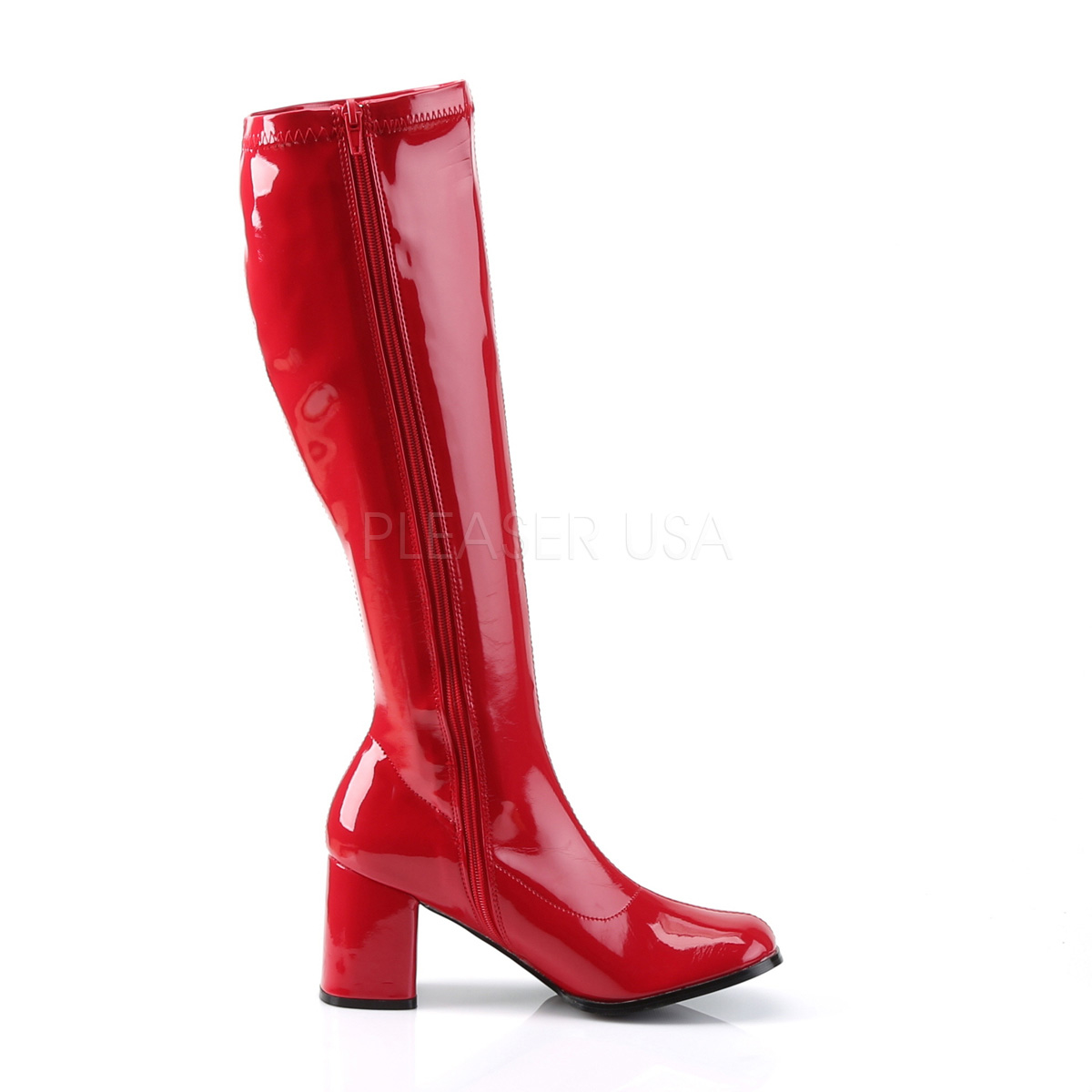 FUNTASMA(Pleaser) GOGO-300 赤 レッド ニーハイブーツ GOGOブーツ コスプレ用ブーツ イベント 衣装 キャンギャルブーツ ロングブーツ