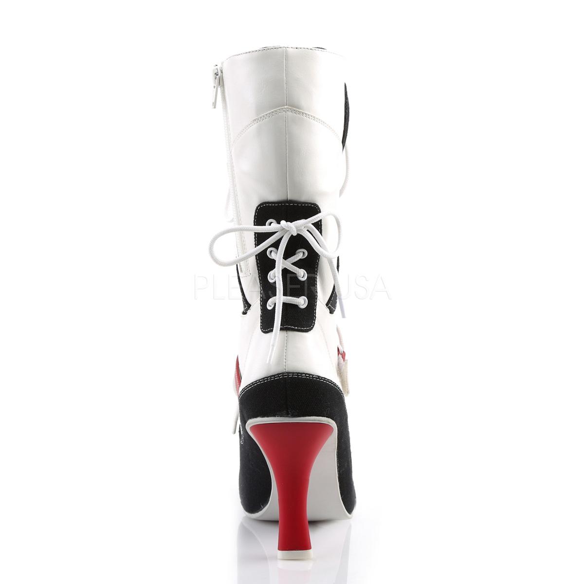 FUNTASMA(Pleaser USA) REFEREE-200 ミッドカーフブーツ ミドルブーツ ホワイト/ブラック スポーティ コスプレ 衣装◆取り寄せ