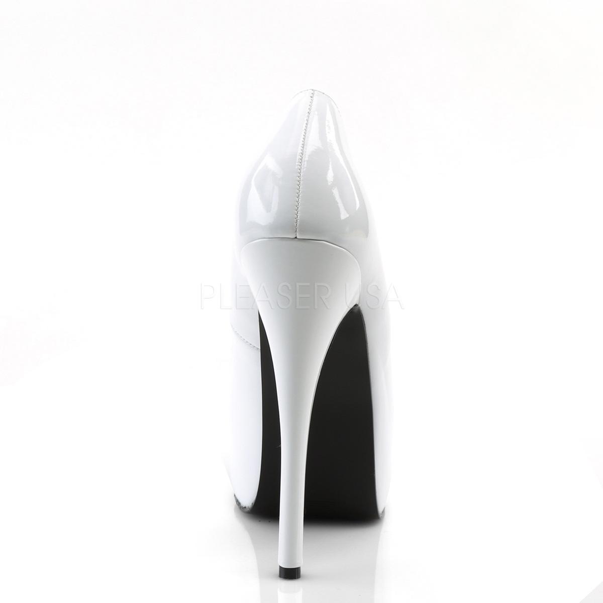 BORDELLO 厚底パンプス TEEZE-06 ホワイト(エナメル)白 PLEASER◆取り寄せ