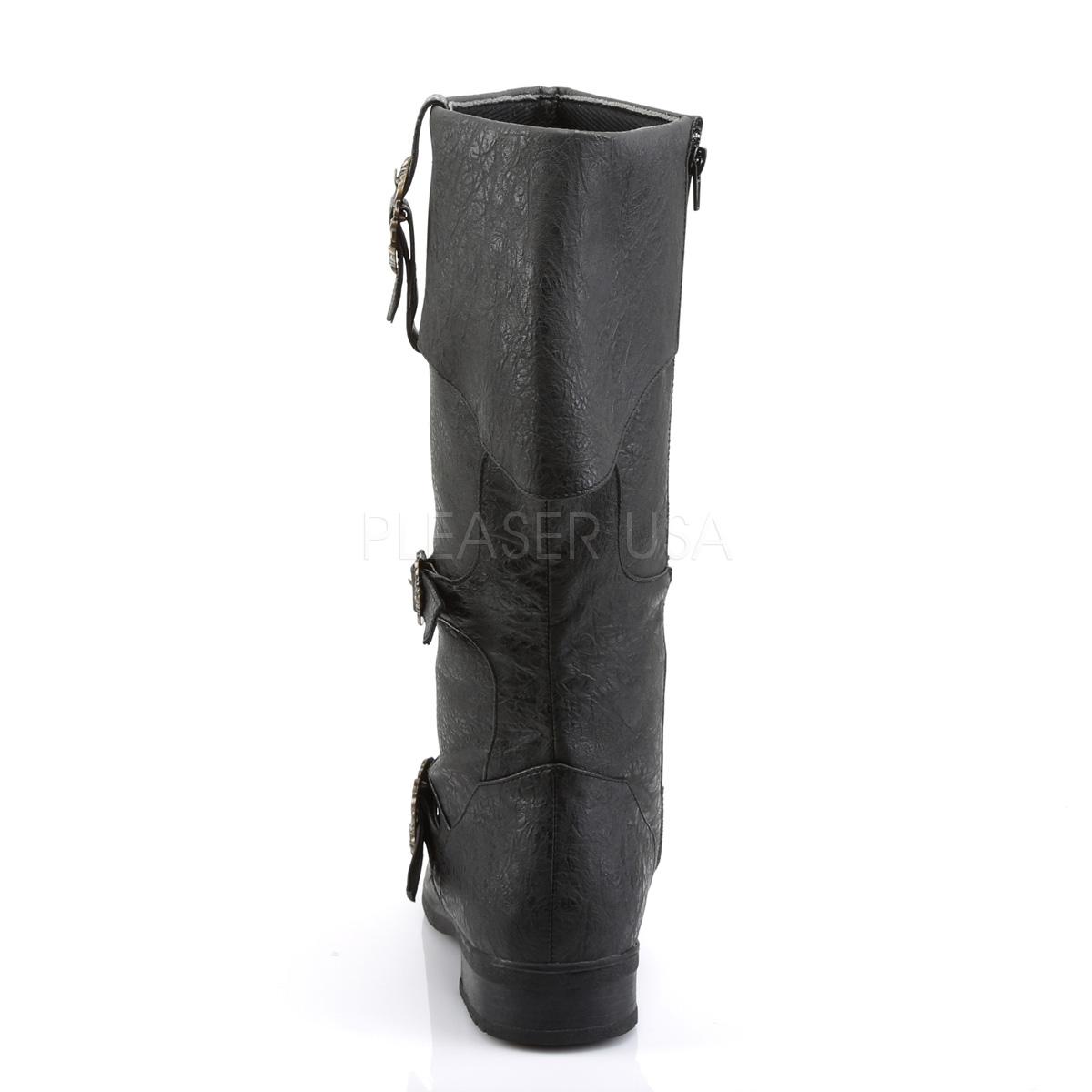 FUNTASMA(Pleaser) CARRIBEAN-299 #Men's/パイレーツブーツ つや消し黒◆取り寄せ