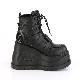 Demonia(デモニア) STOMP-13 ウェッジソール 厚底アンクルブーツ ショートブーツ つや消し黒◆取り寄せ