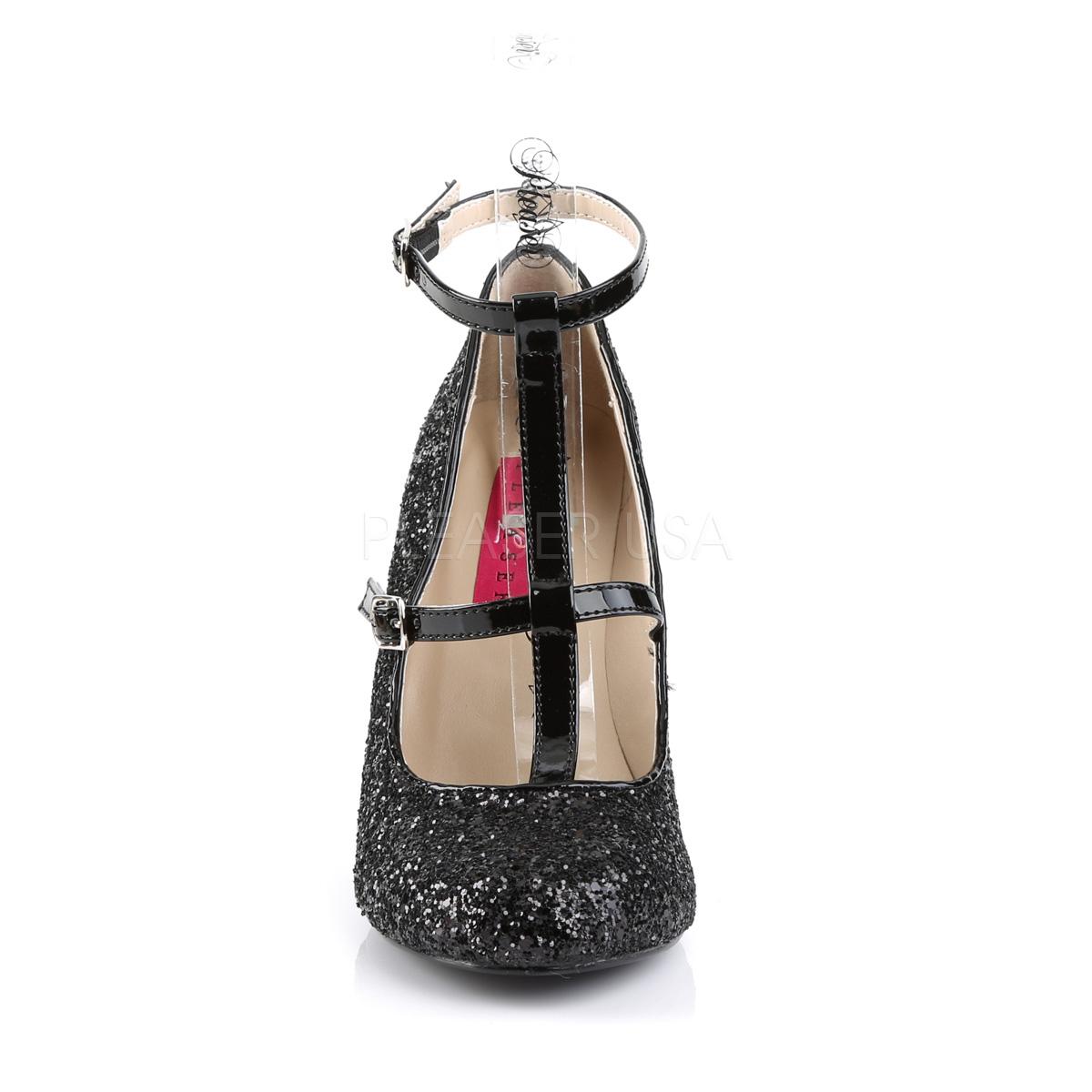 Pleaser Pink Label QUEEN-01 4inch Heel, Round Toe Pump W/ Glitter◆取り寄せ