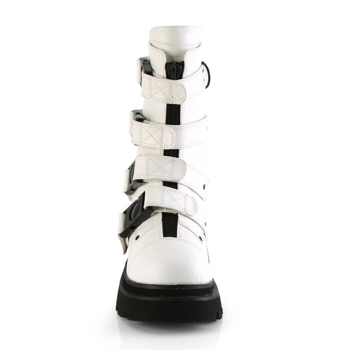 Demonia(デモニア) RENEGADE-55 クイックリリースバックルストラップブーツ ミドルブーツ つや消し白 ホワイト◆取り寄せ