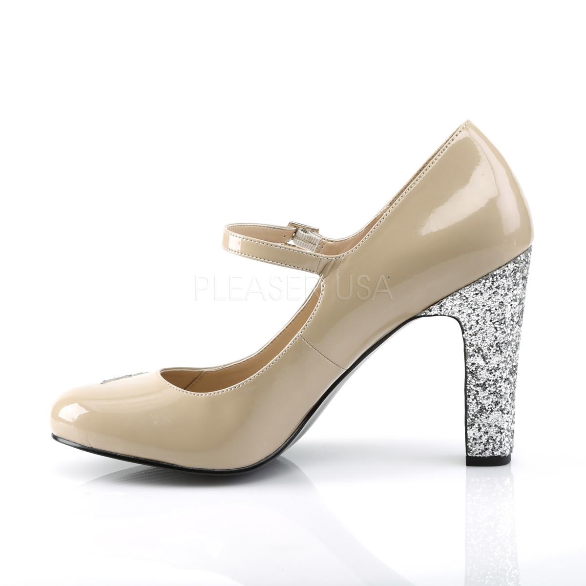 Pleaser Pink Label QUEEN-02 4inch Heel, Round Toe Mary Jane Pump◆取り寄せ