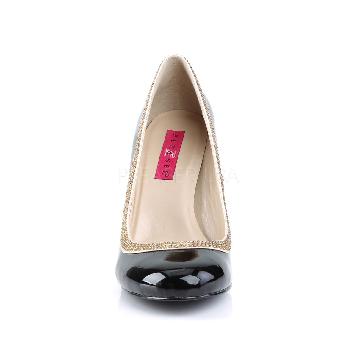 Pleaser Pink Label QUEEN-04 4inch Heel, Round Toe w/ Rhinestone Accent◆取り寄せ