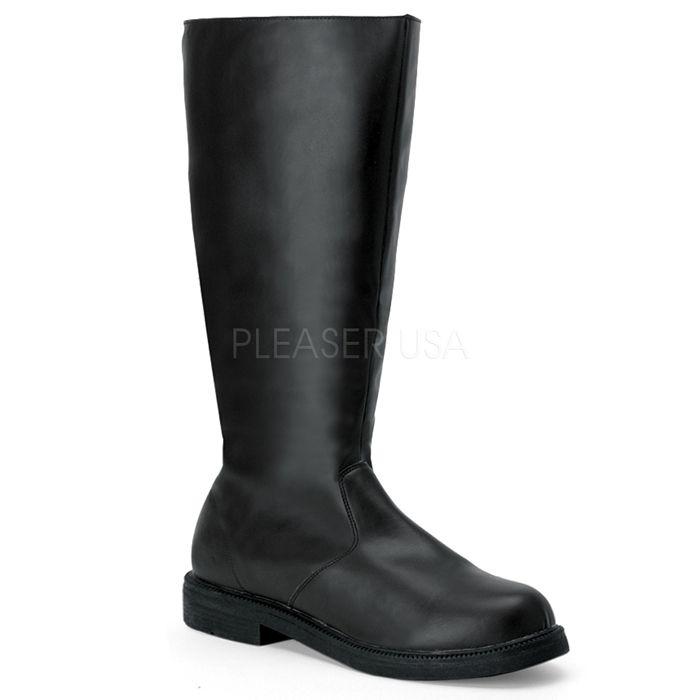 ブーツ メンズ ローヒール Pleaser(プリーザー) FUNTASMA #Men's 靴 男性用 ニーハイブーツ ひざ下丈ロングブーツ 黒 ブラック CAPTAIN-100