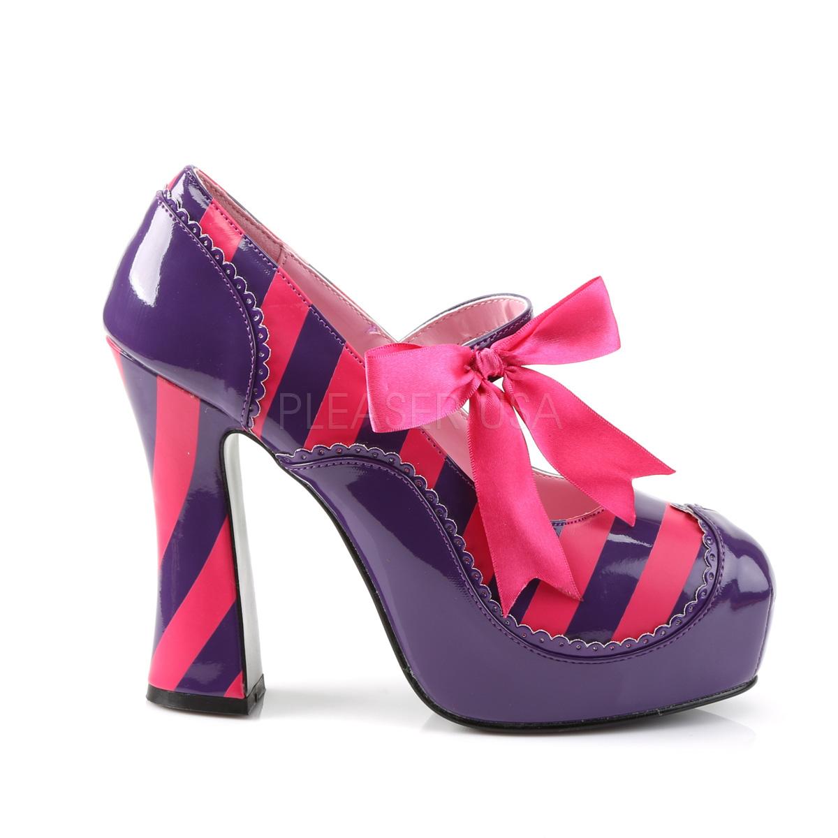 Funtasma KITTY-32 5inch Heel, 1 1/4inch PF Striped Chunky Heel Shoe◆取り寄せ