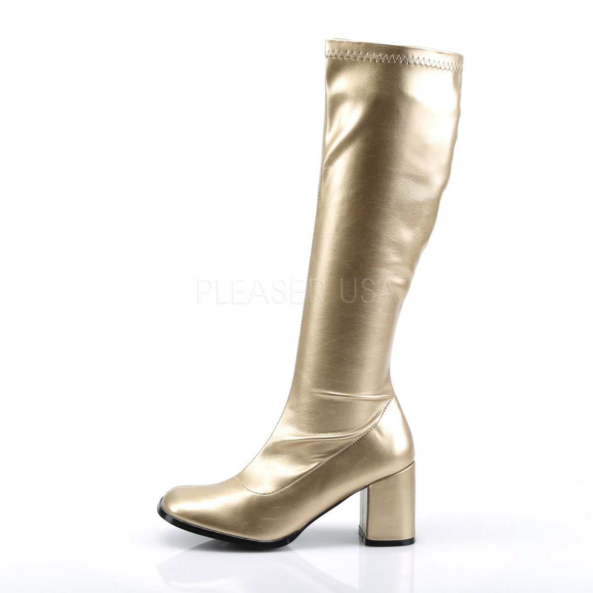 FUNTASMA(Pleaser) GOGO-300 ゴールド/金色 ニーハイブーツ GOGOブーツ コスプレ用ブーツ イベント 衣装  仮装 ハロウィン◆取り寄せ