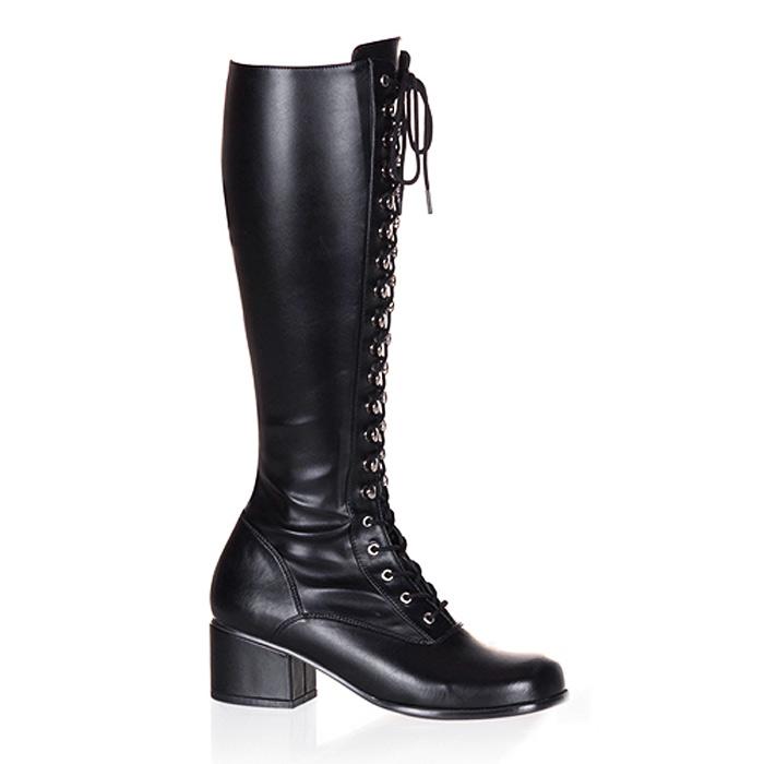 Pleaser(プリーザー) ブーツ 黒つや消し 編み上げ/レースアップ ローヒール FUNTASMA RETRO-302-BLKPU