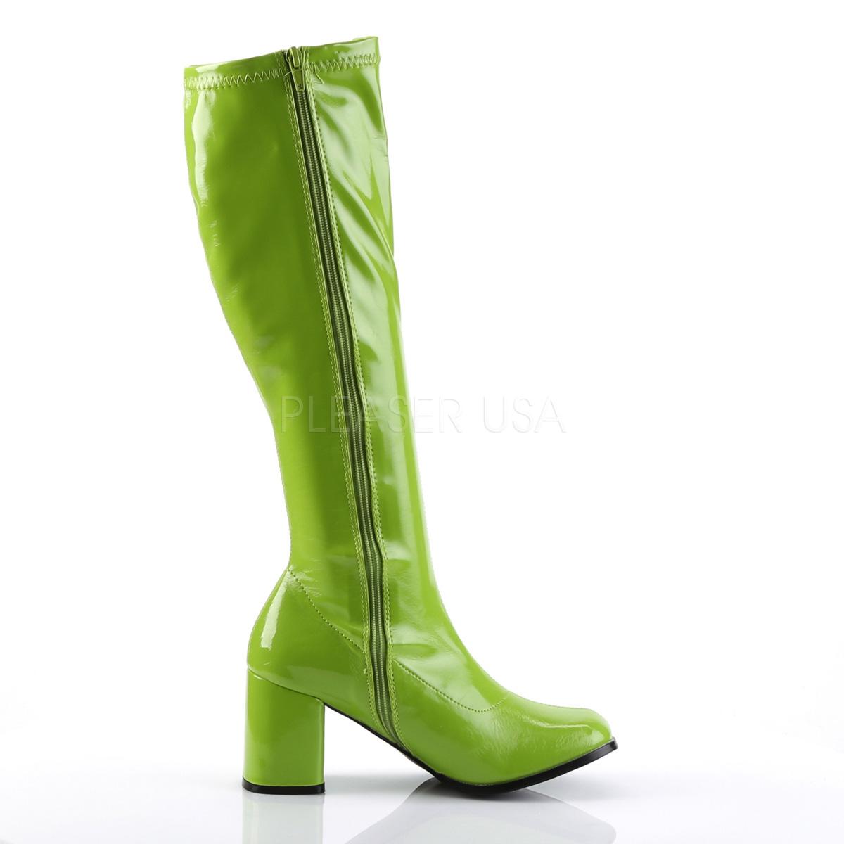 FUNTASMA(Pleaser) GOGO-300 ライムグリーン ニーハイブーツ GOGOブーツ コスプレ用ブーツ イベント 衣装 仮装 ハロウィン◆取り寄せ