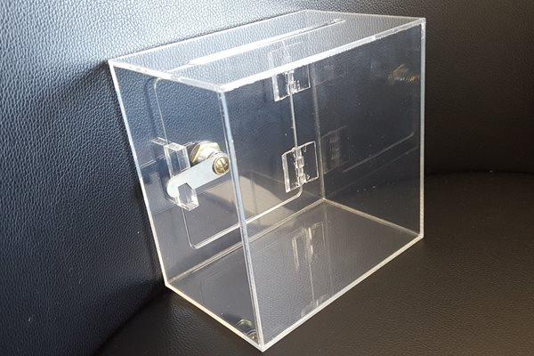 アクリル募金箱(鍵付き)