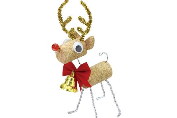 コルクのクリスマスアニマル