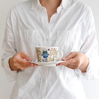 正規販売店 イッタラ タイカ コーヒーカップ&ソーサー [レッド] iittala Taika Coffee Cappuccino cup&Saucer