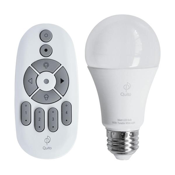 Quito LED電球 E26 [QT001] + 専用リモコン [QT002] セット