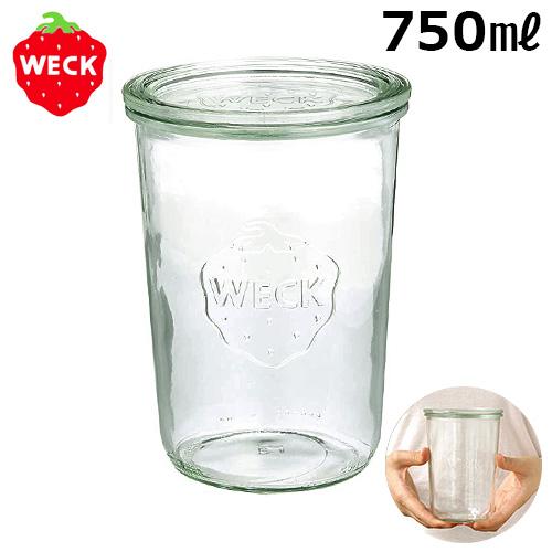 ウェック ガラスキャニスター ミニ モールドシェイプ WE-743/750ml WECK MINI MOLD SHAPE 本体+フタ