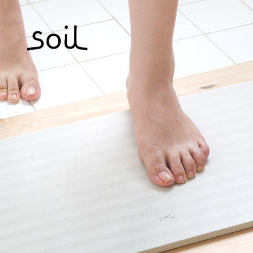 ソイル 珪藻土 バスマット soil BATH MAT 《WAVE》