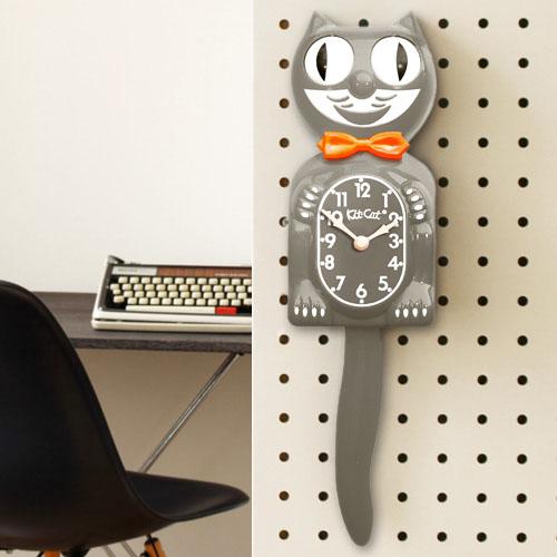 キット キャット クロック モダーンアートグレー Kit-Cat Klock Modern art gray