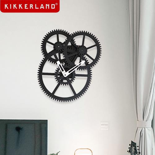 キッカーランド トリプルギアウォールクロック KIKKERLAND TRIPLE GEAR WALL CLOCK