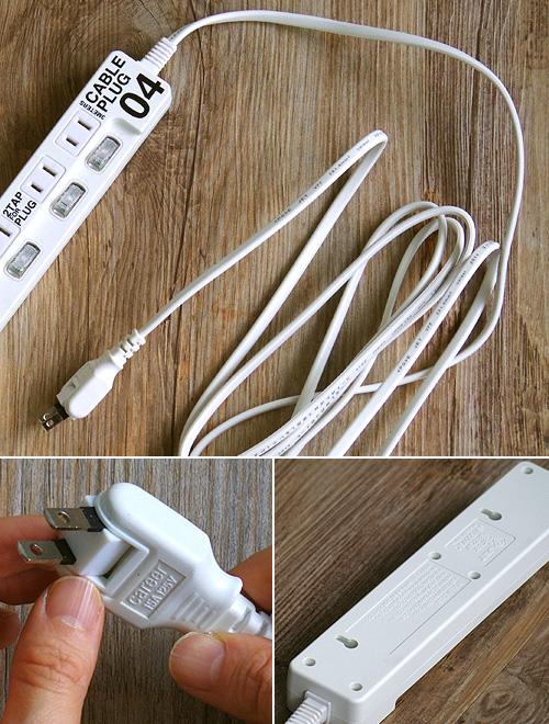 ケーブルプラグ 4個口 CABE PLUG 04