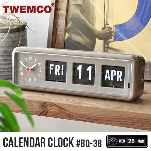 トゥエンコ カレンダークロック TWEMCO CALENDAR CLOCK #BQ-38