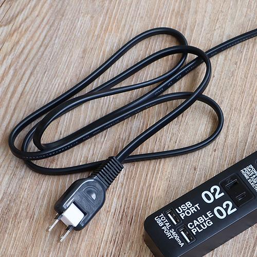 ケーブルプラグ 2個口 & USBポート 2個口 CABE PLUG 02 & USB PORT 02
