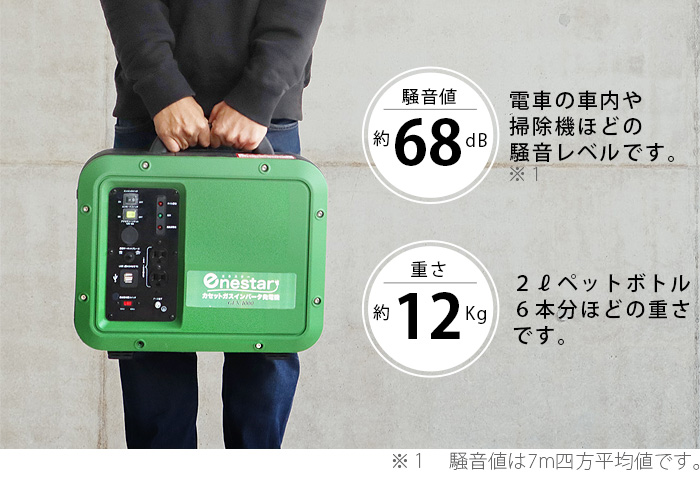 enestar カセットガス インバータ発電機