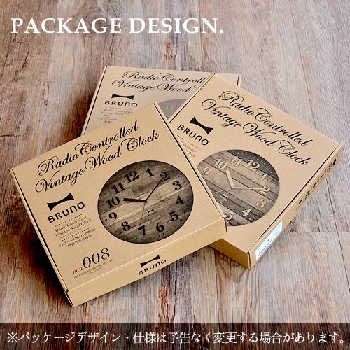 ブルーノ 電波ビンテージウッドクロック BRUNO Radio Controlled Vintage Wood Clock [ BCR008 ]