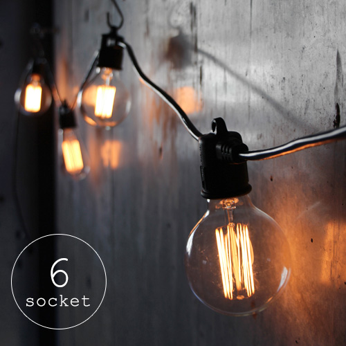 ストリングスライト [6ソケット/電球なし] Strings Light 6 socket